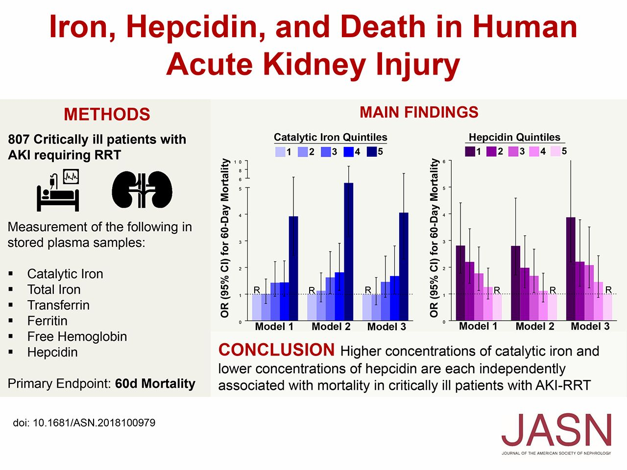 Iron Hepcidin And Death In Human Aki American Society Of Nephrology