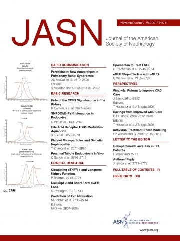 Journal of the American Society of Nephrology: 29 (11)