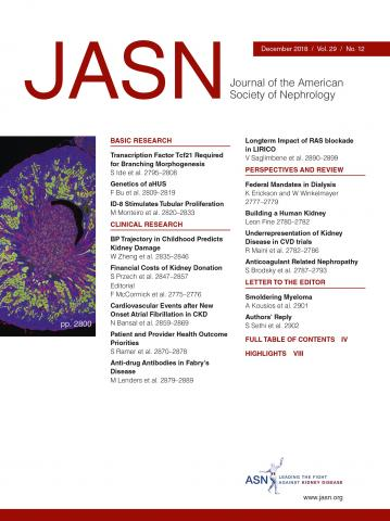 Journal of the American Society of Nephrology: 29 (12)
