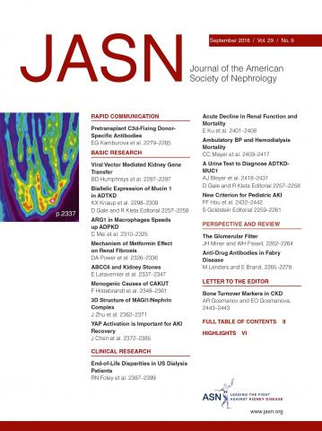 Journal of the American Society of Nephrology: 29 (9)