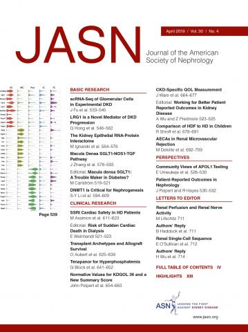 Journal of the American Society of Nephrology: 30 (4)