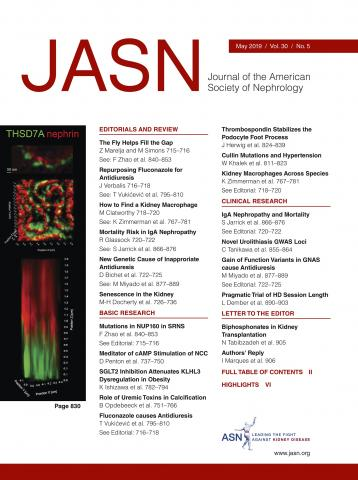 Journal of the American Society of Nephrology: 30 (5)