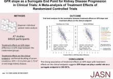 GFR Slope as a Surrogate End Point for Kidney Disease Progression in Clinical Trials: A Meta-Analysis of Treatment Effects of Randomized Controlled Trials