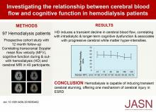 Investigating the Relationship between Cerebral Blood Flow and Cognitive Function in Hemodialysis Patients