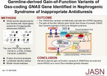 Germline-Derived Gain-of-Function Variants of Gs<em>α</em>-Coding <em>GNAS</em> Gene Identified in Nephrogenic Syndrome of Inappropriate Antidiuresis