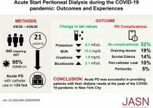 Acute Start Peritoneal Dialysis during the COVID-19 Pandemic: Outcomes and Experiences