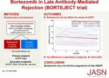 A Randomized Trial of Bortezomib in Late Antibody-Mediated Kidney Transplant Rejection