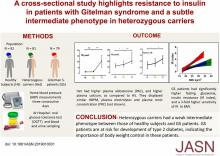 Resistance to Insulin in Patients with Gitelman Syndrome and a Subtle Intermediate Phenotype in Heterozygous Carriers: A Cross-Sectional Study
