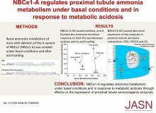 NBCe1-A Regulates Proximal Tubule Ammonia Metabolism under Basal Conditions and in Response to Metabolic Acidosis