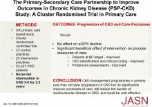 The Primary-Secondary Care Partnership to Improve Outcomes in Chronic Kidney Disease (PSP-CKD) Study: A Cluster Randomized Trial in Primary Care