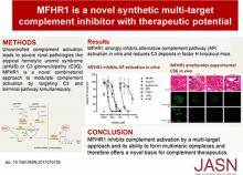 The MFHR1 Fusion Protein Is a Novel Synthetic Multitarget Complement Inhibitor with Therapeutic Potential