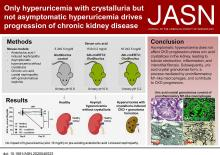 Only Hyperuricemia with Crystalluria, but not Asymptomatic Hyperuricemia, Drives Progression of Chronic Kidney Disease