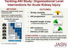 An Organizational-Level Program of Intervention for AKI: A Pragmatic Stepped Wedge Cluster Randomized Trial
