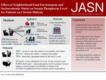 Effect of Neighborhood Food Environment and Socioeconomic Status on Serum Phosphorus Level for Patients on Chronic Dialysis