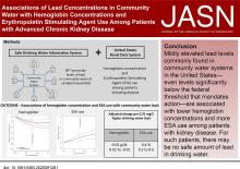 Associations of Community Water Lead Concentrations with Hemoglobin Concentrations and Erythropoietin-Stimulating Agent Use among Patients with Advanced CKD