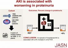 Impact of AKI on Urinary Protein Excretion: Analysis of Two Prospective Cohorts