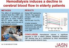 Hemodialysis Induces an Acute Decline in Cerebral Blood Flow in Elderly Patients