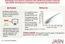 Estimating Urine Albumin-to-Creatinine Ratio from Protein-to-Creatinine Ratio: Development of Equations using Same-Day Measurements