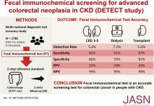 One-Time Fecal Immunochemical Screening for Advanced Colorectal Neoplasia in Patients with CKD (DETECT Study)