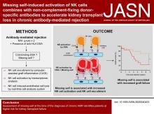 Missing Self-Induced Activation of NK Cells Combines with Non-Complement-Fixing Donor-Specific Antibodies to Accelerate Kidney Transplant Loss in Chronic Antibody-Mediated Rejection