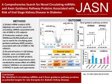 Comprehensive Search for Novel Circulating miRNAs and Axon Guidance Pathway Proteins Associated with Risk of ESKD in Diabetes