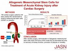 Allogeneic Mesenchymal Stem Cells for Treatment of AKI after Cardiac Surgery