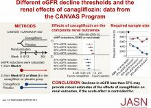 Different eGFR Decline Thresholds and Renal Effects of Canagliflozin: Data from the CANVAS Program