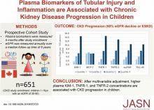 Plasma Biomarkers of Tubular Injury and Inflammation Are Associated with CKD Progression in Children