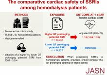 Comparative Cardiac Safety of Selective Serotonin Reuptake Inhibitors among Individuals Receiving Maintenance Hemodialysis