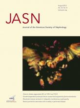Journal of the American Society of Nephrology: 23 (8)