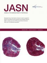 Journal of the American Society of Nephrology: 24 (9)
