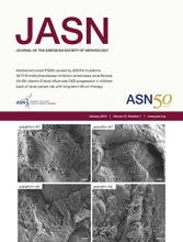 Journal of the American Society of Nephrology: 27 (1)