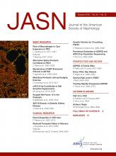Journal of the American Society of Nephrology: 29 (10)